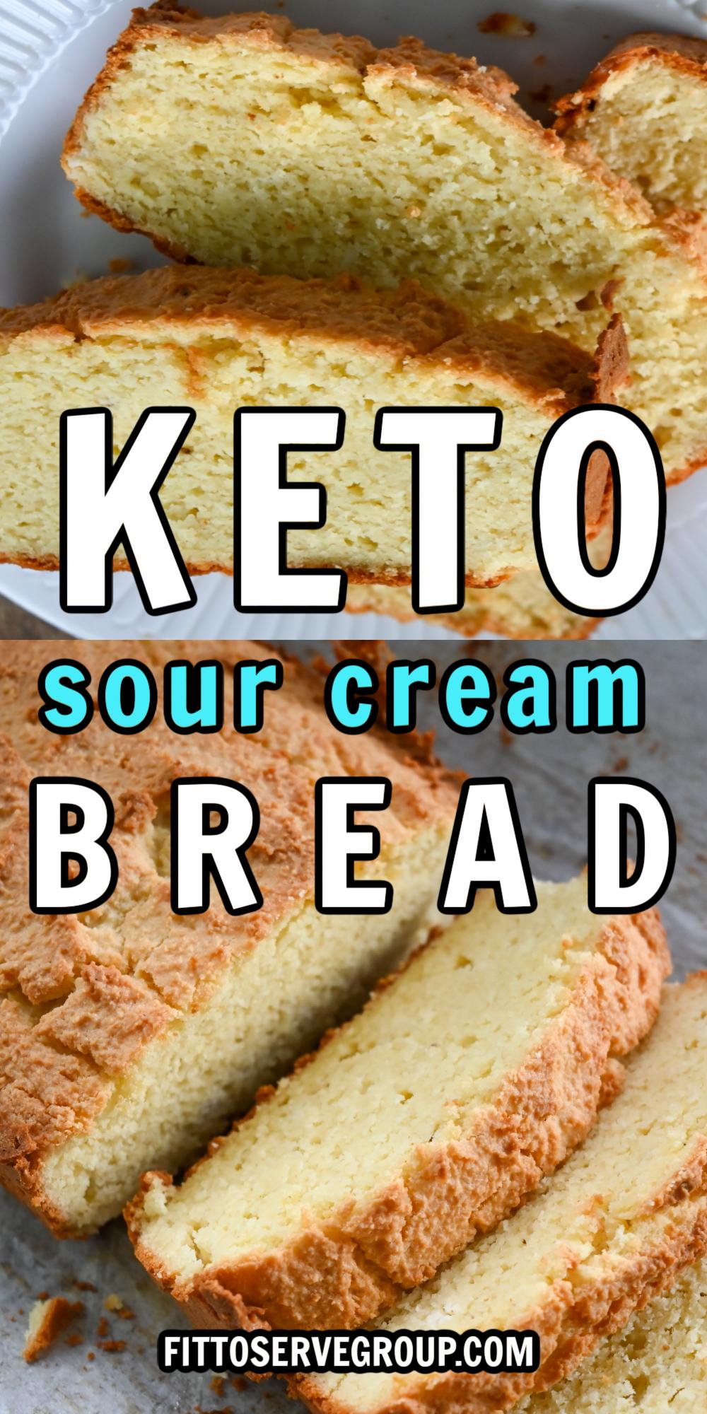 Keto Sour Cream Gluten-Free Bread sliced and served