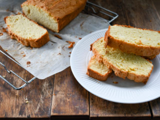 keto sour cream bread sliced and served