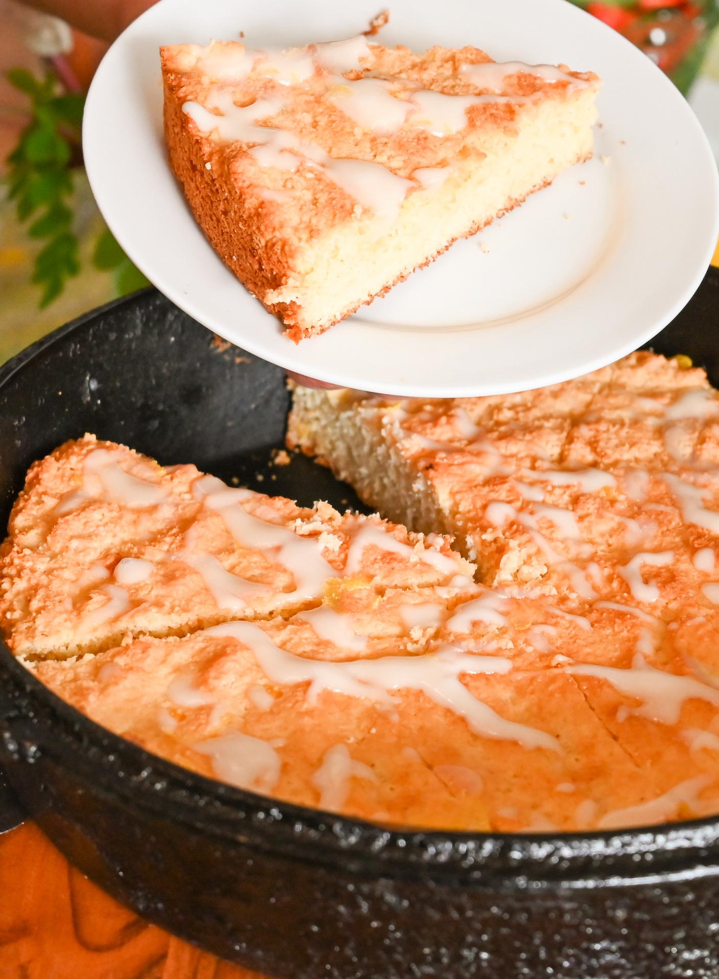 keto vanilla scones sliced and ready to serve