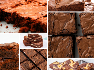 keto brownie recipes collage