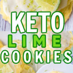 keto lime cookies displayed on white plates and sliced limes