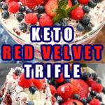 Keto red velvet berry trifle