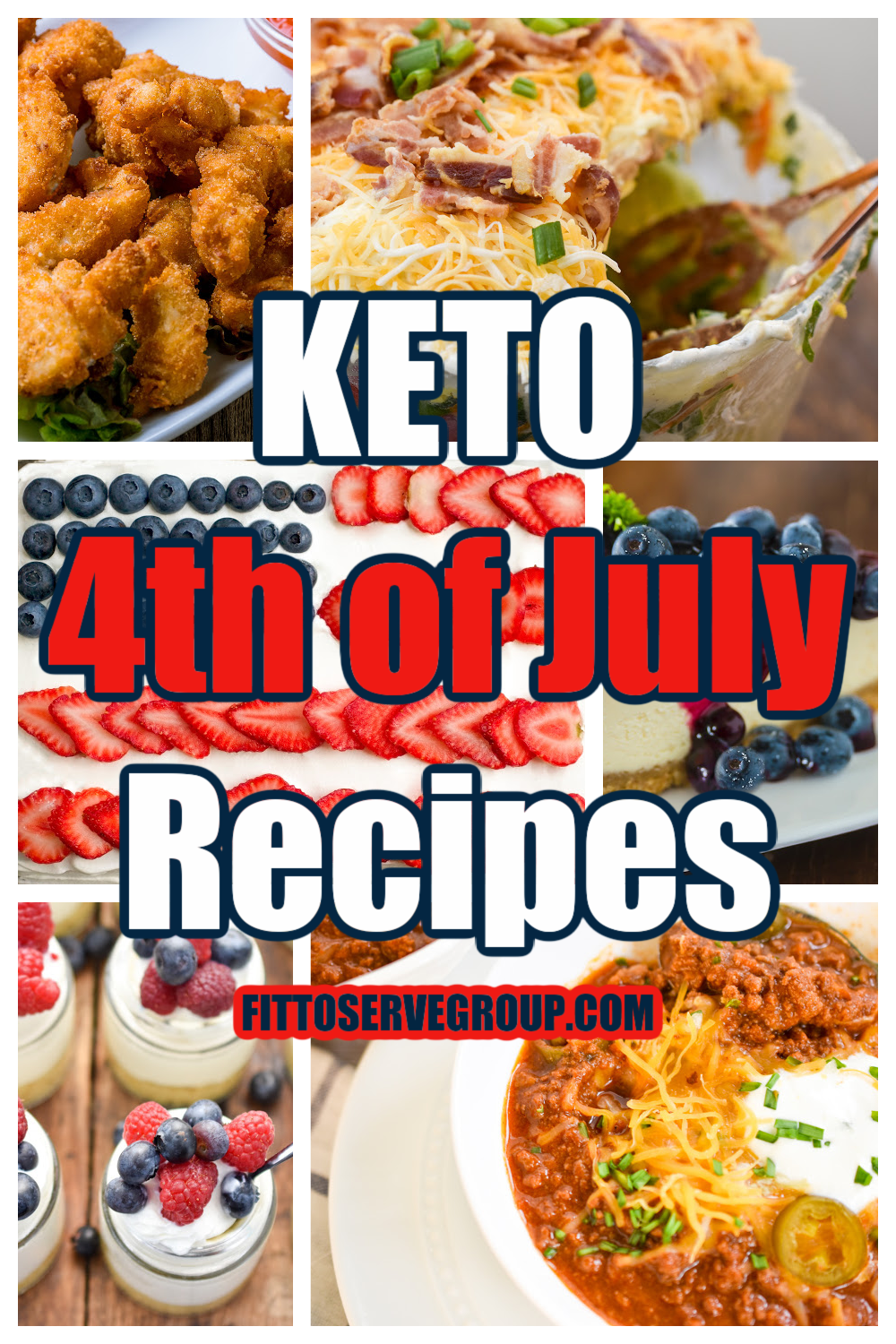 keto 4th of July recipes collage picture