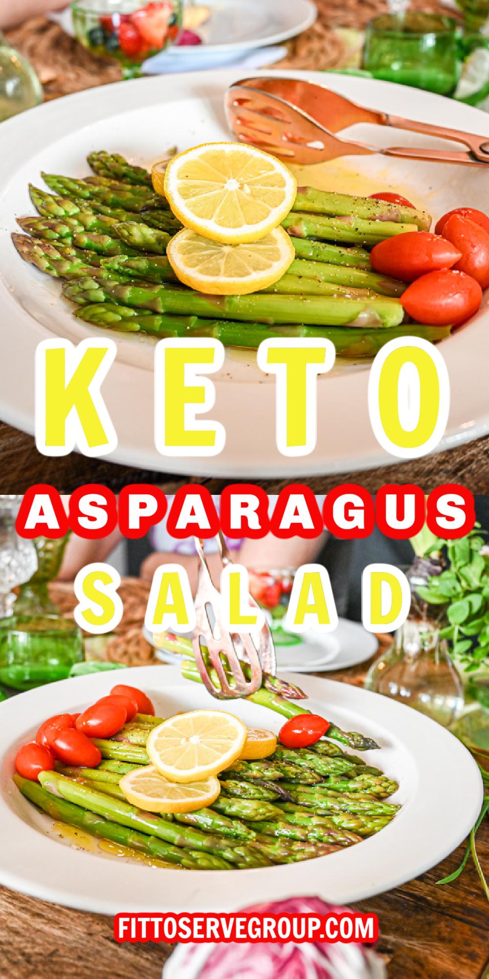 keto asparagus salad pin
