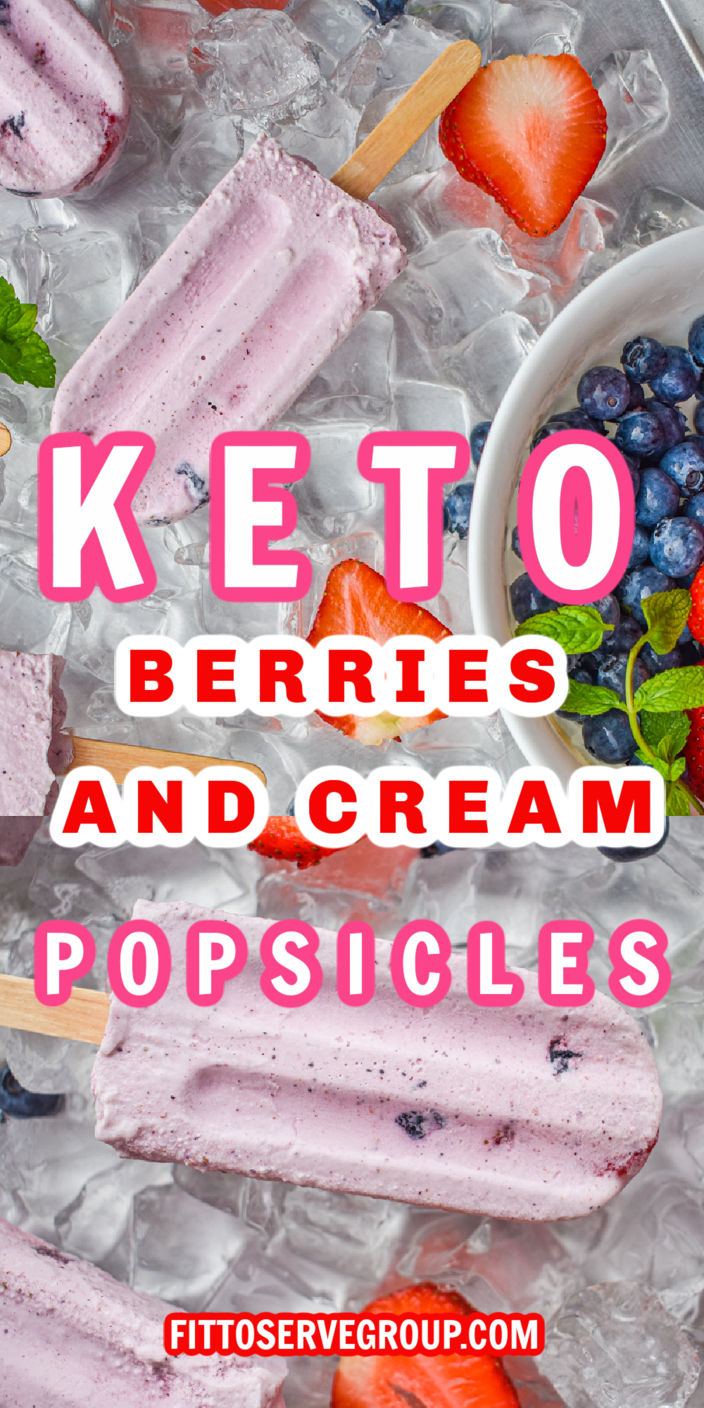 keto berries and cream popsicles