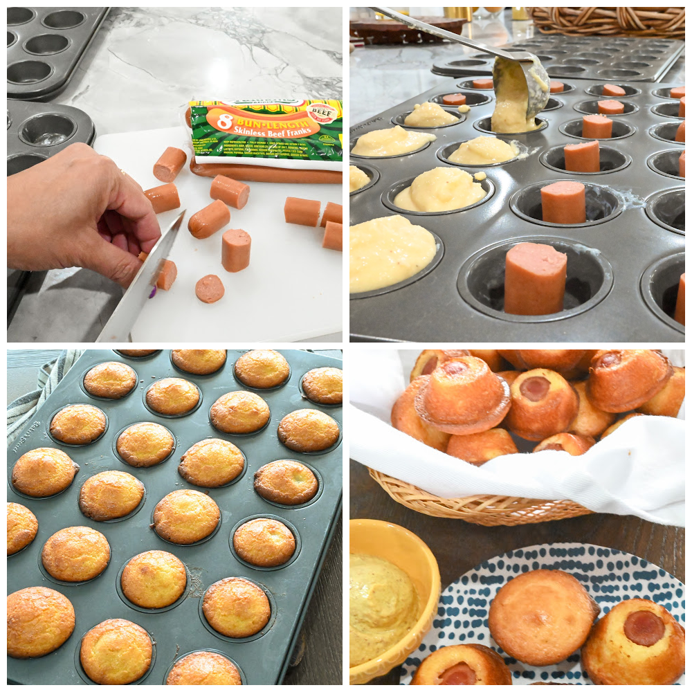keto corn dog minis process pictures