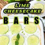 Keto Lime Cheesecake Bars