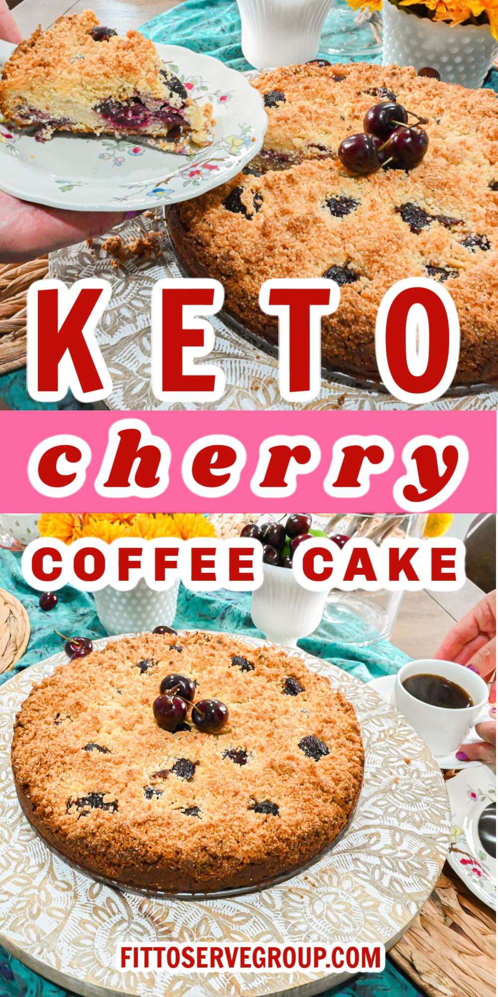 Keto Cherry Coffee Cake Pin