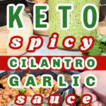 Keto Spicy Cilantro Garlic Sauce Pin