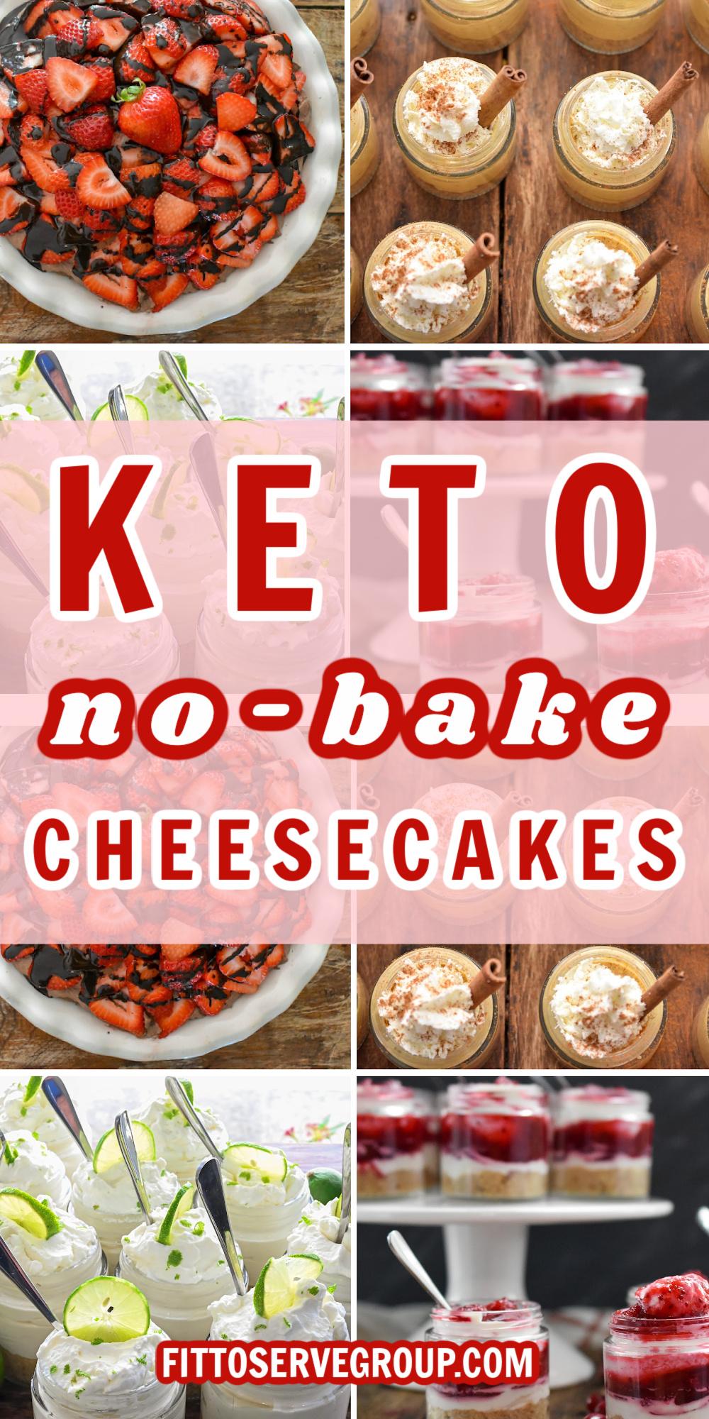 Keto No-Bake Cheesecakes Pin