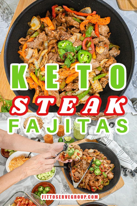 Keto Steak Fajitas Pin