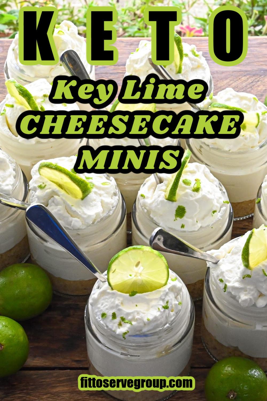 Keto no bake key lime cheesecake minis