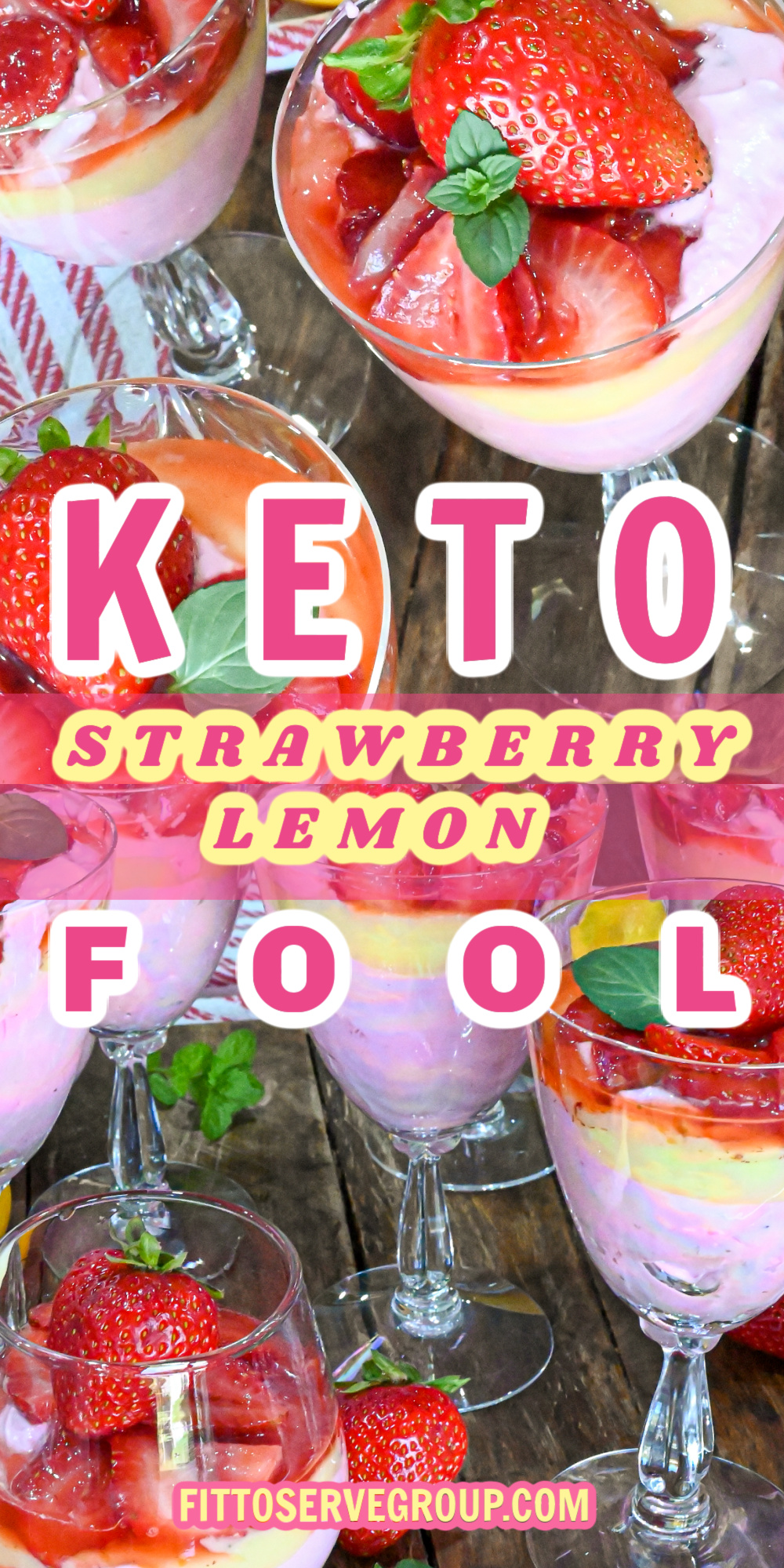 Keto strawberry lemon fool recipe