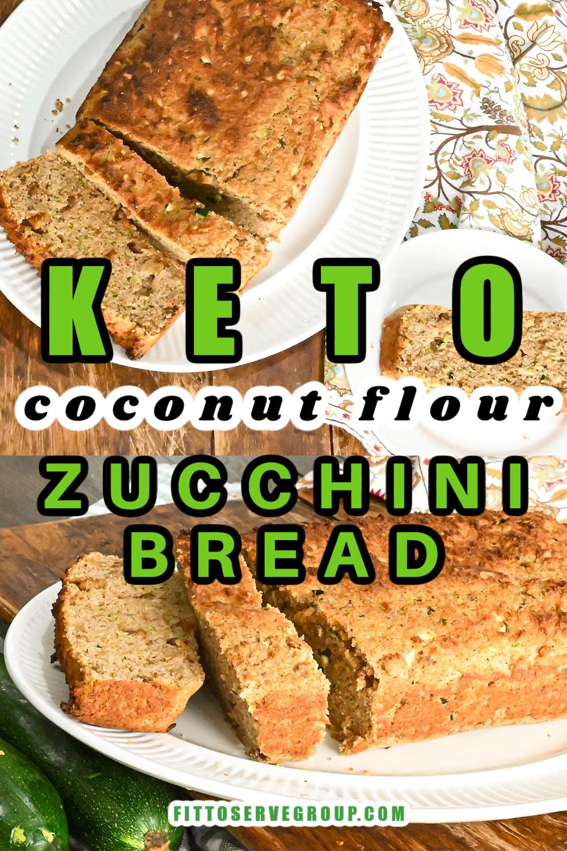 Keto Coconut Flour Zucchini Bread