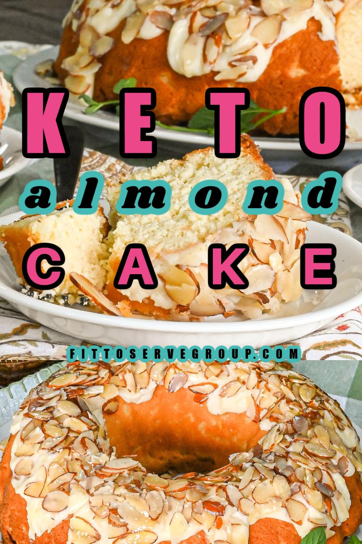 keto almond cake Pinterest pin