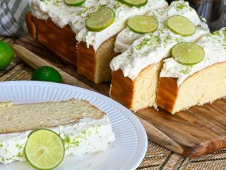 keto key lime pound cake featured image