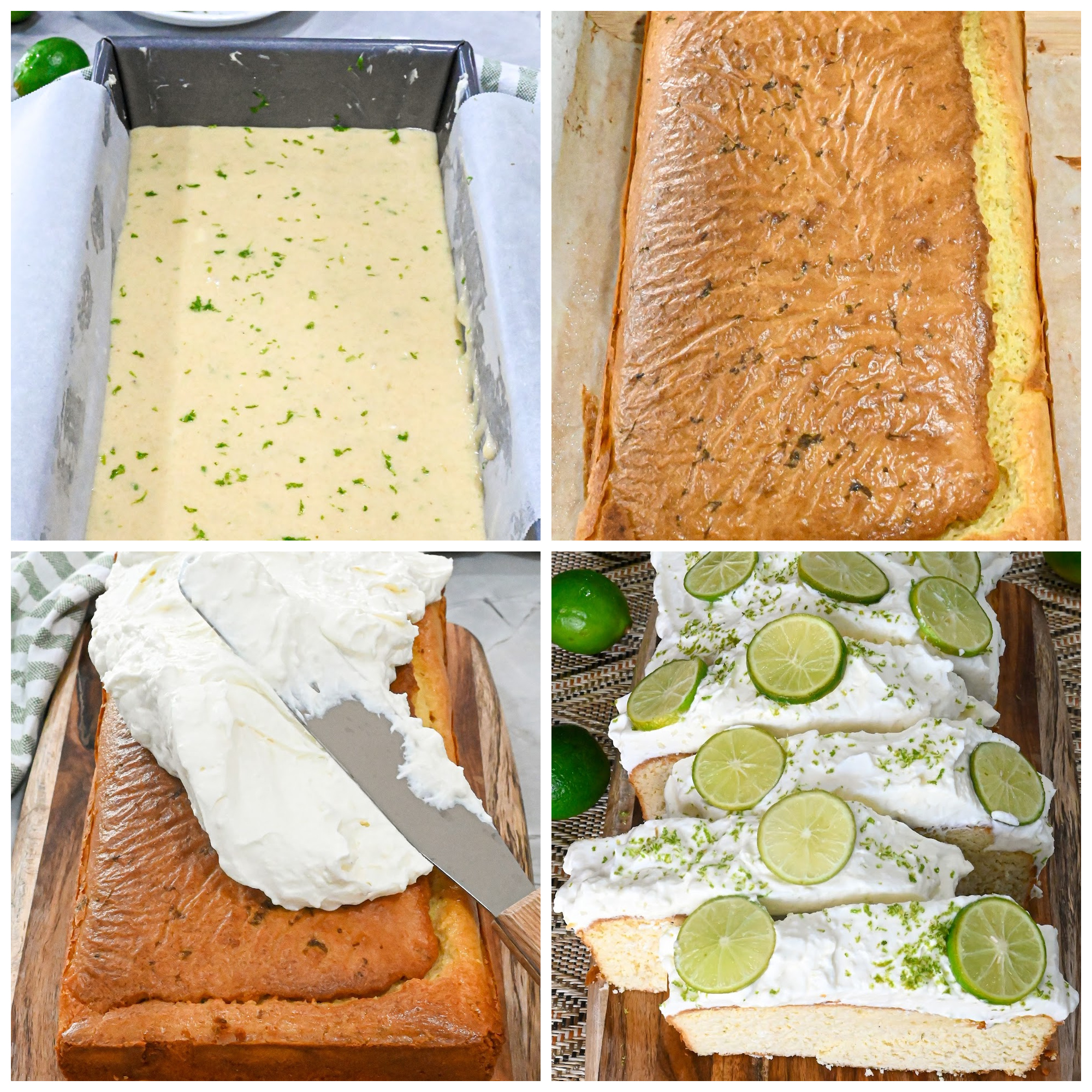 keto key lime pound cake process pictures
