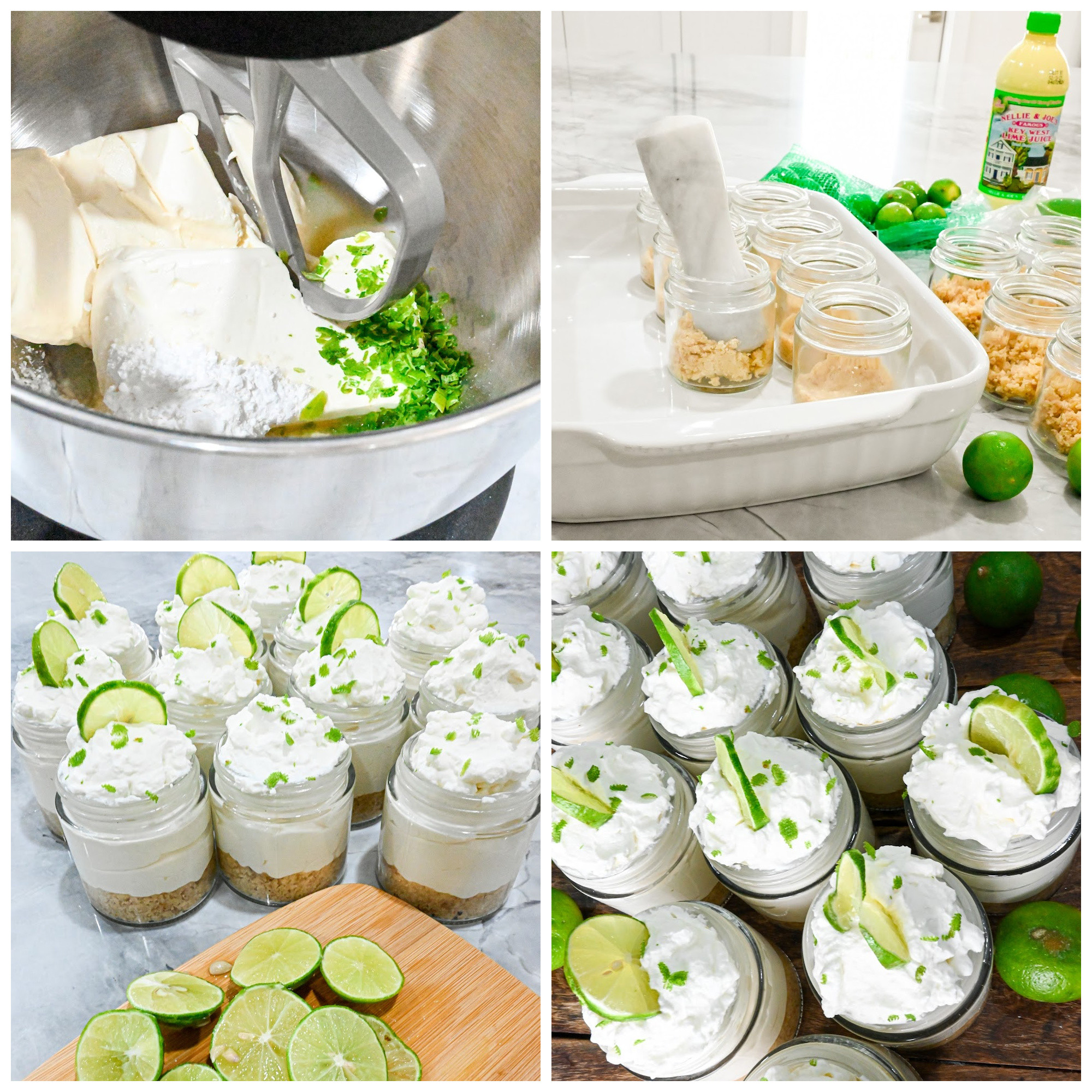 keto no bake key lime cheesecake process pictures