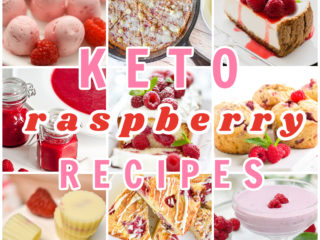 keto raspberry recipes collage featured image