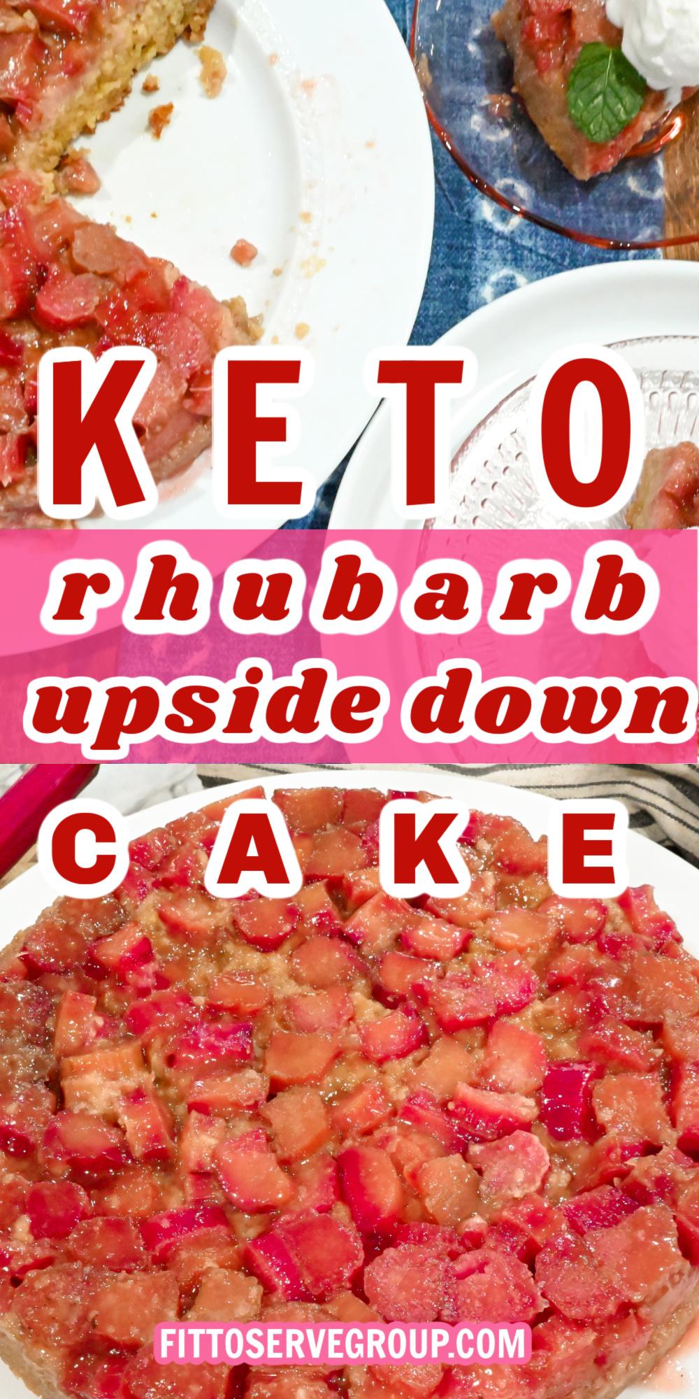keto rhubarb upside down cake