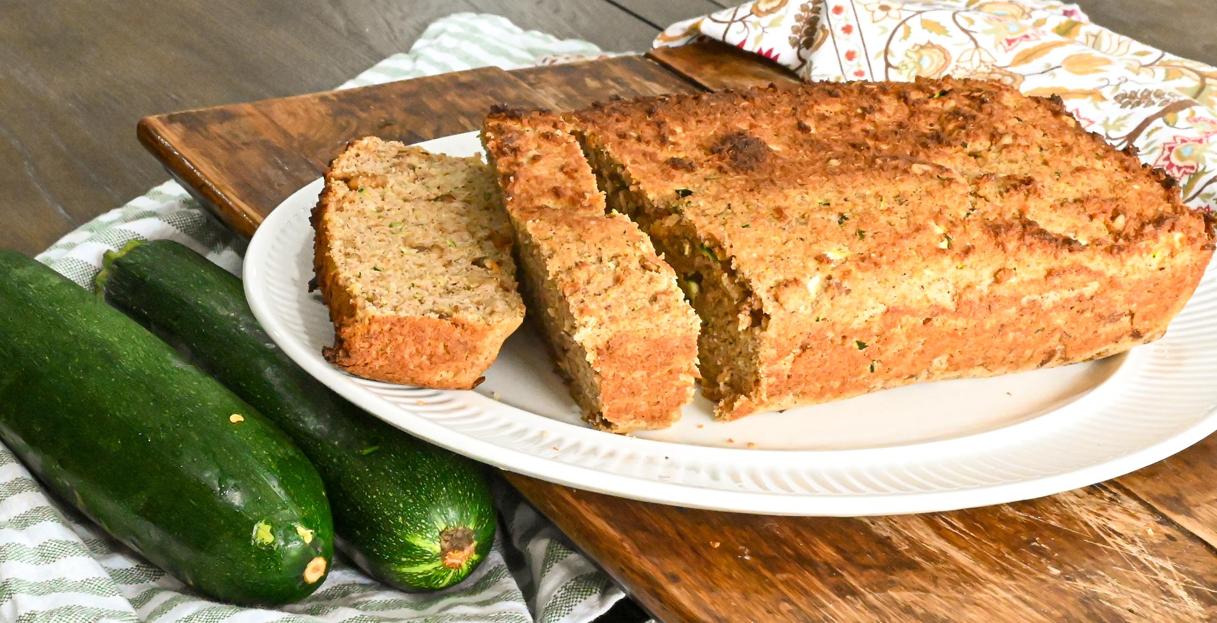 keto zucchini bread display
