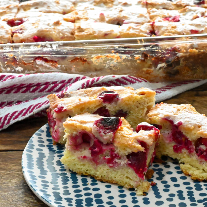 keto cranberry bars featured image